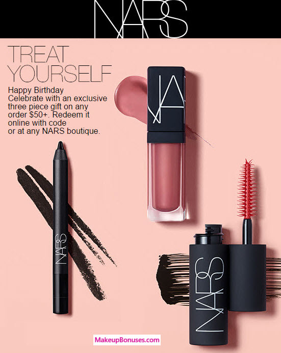 NARS Free Birthday Gift 2017 MakeupBonuses