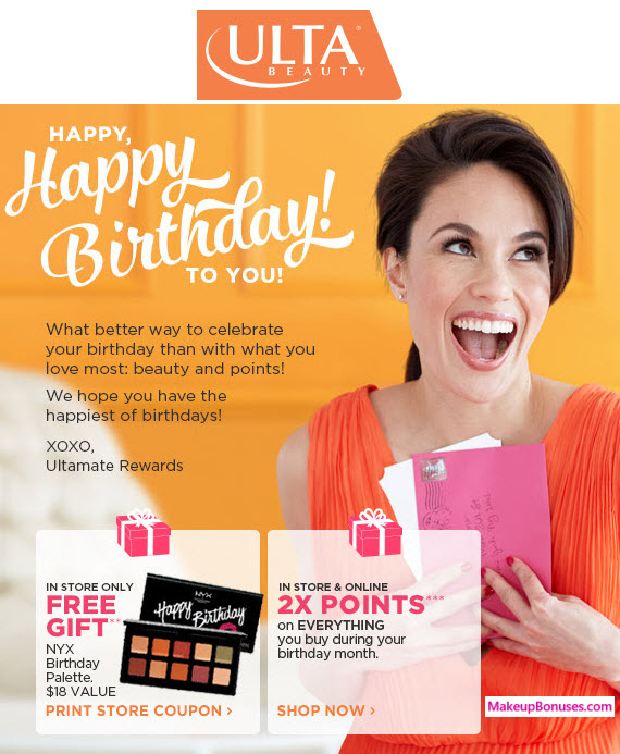 ULTA BEAUTY 2017 Birthday Gift
