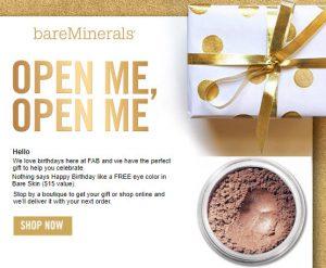 bareminerals birthday gift Free Birthday Gifts – MakeupBonuses.com bareminerals birthday gift