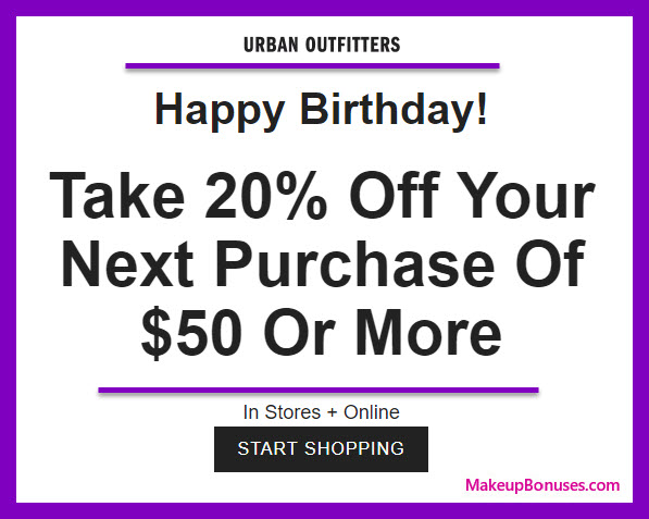 Urban Outfitters Birthday Gift